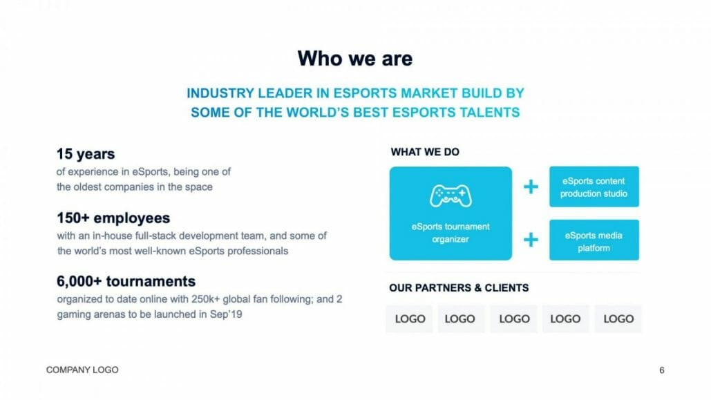 industry leader in esports template